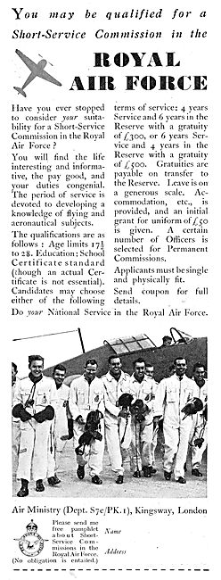 RAF Recruitment : Short Service Aircrew