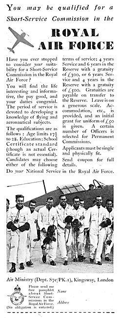 RAF Recruitment : Short Service Aircrew