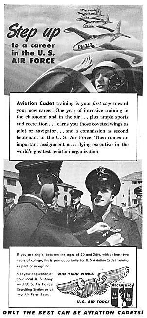 USAF - U.S.Air Force Recruitment 1950 Advert