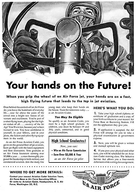 USAF. U.S.Air Force Recruitment  1954