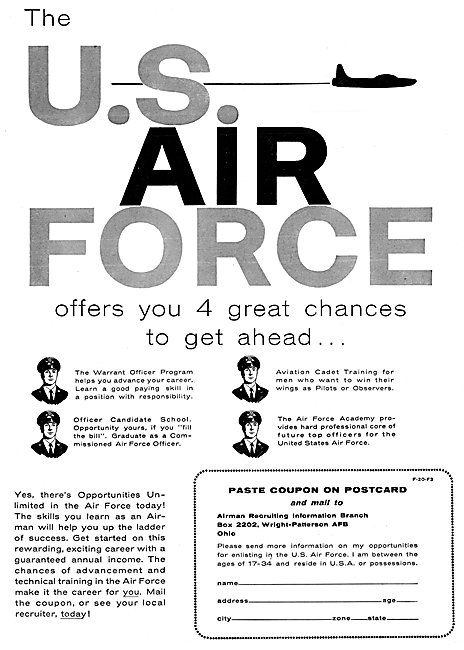 USAF - U.S.Air Force Recruitment 1956
