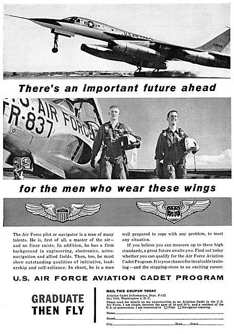 USAF. United States Air Force Pilot Recruitment 1958