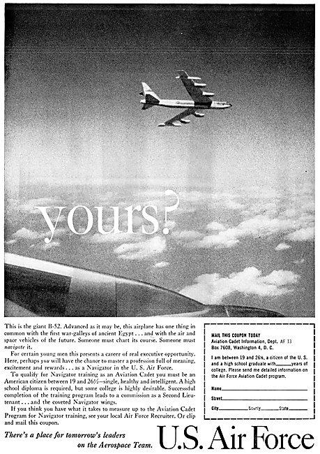 U.S.Air Force Recruitment USAF 1961