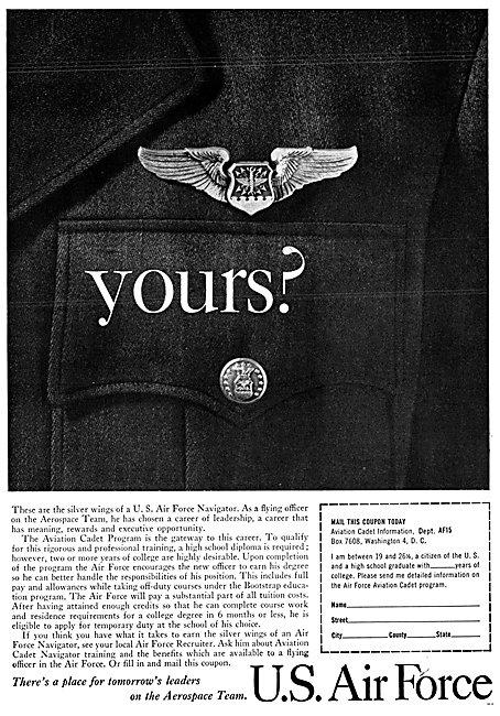 U.S.Air Force Recruitment - USAF 1961