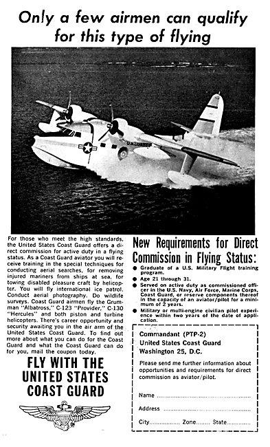 US Coastguard - United States Coastguard Pilot Recruitment 1964