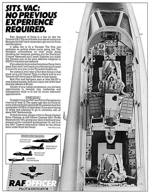 RAF Recruitment Aircrew 1988