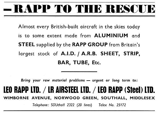 Leo Rapp - Aluminium For The Aircraft Industry