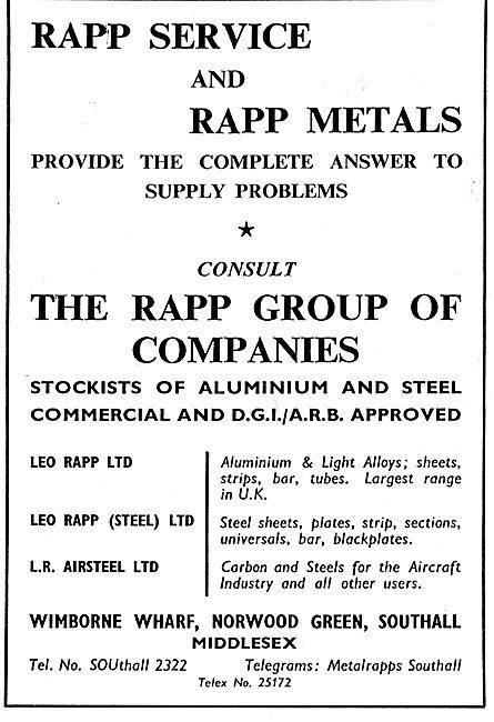 Leo Rapp - DGI/ARB Metals For The Aircraft Industry