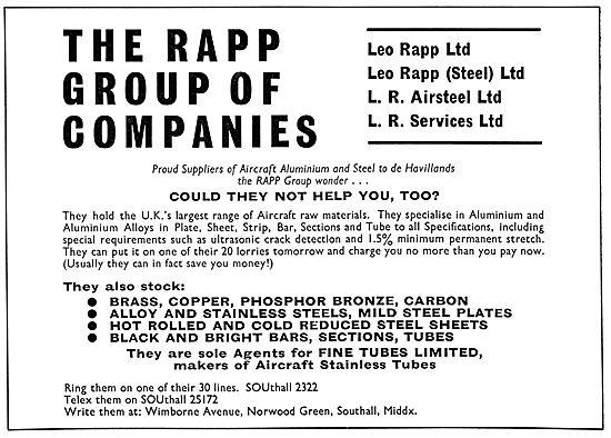 Leo Rapp - Aluminium & Metals For The Aircraft Industry