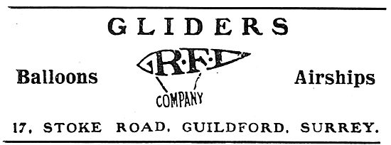 RFD Gliders, Balloons & Airships