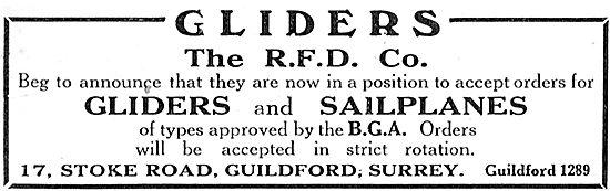 RFD Gliders & Sailplanes