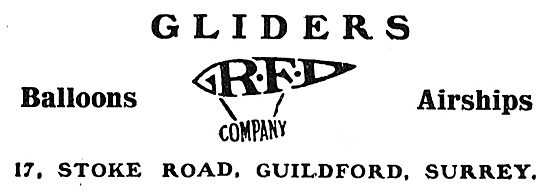 RFD Gliders, Ballons & Airships