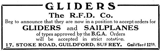RFD Gliders & Sailpanes 1931