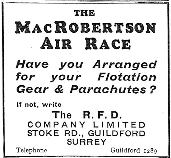 RFD Flotation Gear And Dinghies - MacRoberston Air Race
