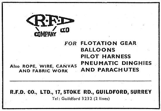 RFD Flotation Gear & Aircrew Survival Dinghies