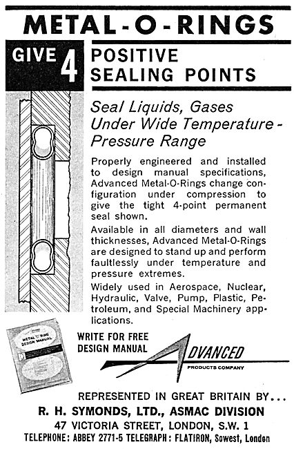 R.H.Symonds. Metal O-Rings. Seals