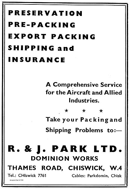 R & J Park Export Shipping Services To The Aircraft Industry