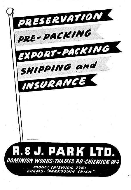 R & J Park. Export Packing For The Aviation Industry