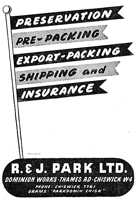 R & J Park Export Packing & Shipping For The Aircraft Industry