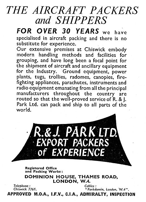 R & J Park - Aircraft Packers & Shippers