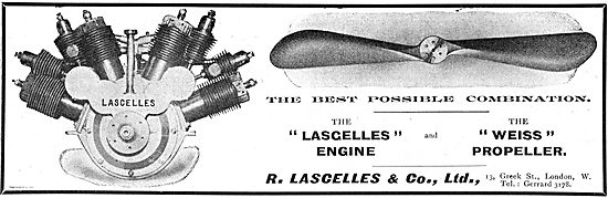 R Lascelles & Co: Lascelles Aeroplane Engine And Weiss Propeller