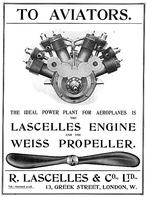 R Lascelles & Co - Aero-Engines - Weiss Propellers