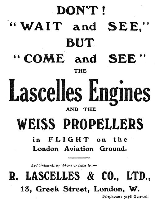 Come And See The Lascelles Engine & Weiss Propeller At London