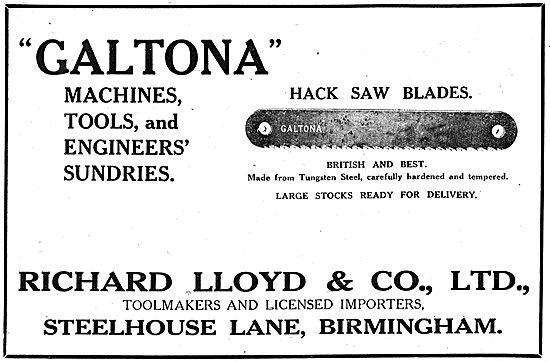 R.Lloyd & Co Ltd. - Galtona Machines, Tools & Engineers Sundries