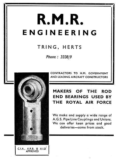 R.M.R. Engineering  Rod End Bearings & AGS Parts