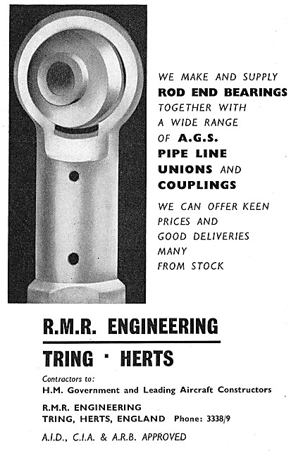 R.M.R. Engineering. Rod End Bearings & AGS Parts