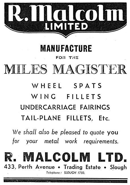 R.Malcolm  Aircraft Sheet Metal Work