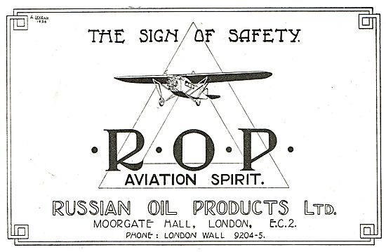 Russian Oil Products: ROP Aviation Spirit. The Sign Of Safety.