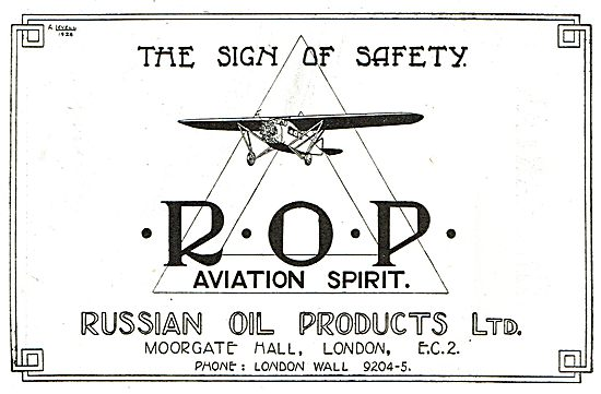 Russian Oil Products - ROP Aviation Spirit. The Sign Of Safety