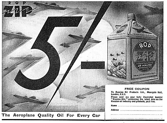 Russian Oil Products - ROP ZIP  Aeroplane Oil