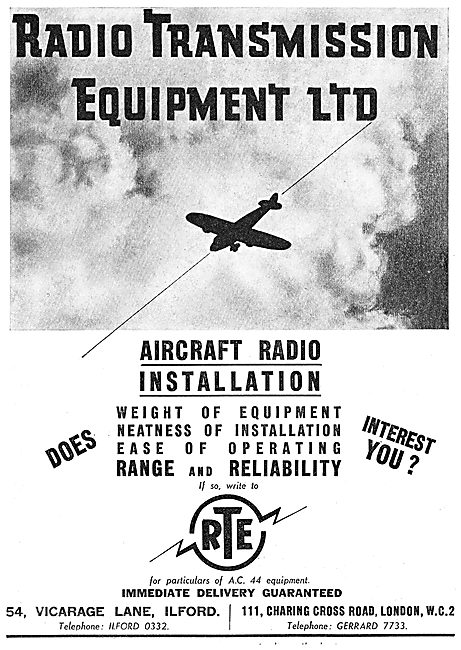 Radio Transmission Equipment - RTE Aircraft Radio Installations