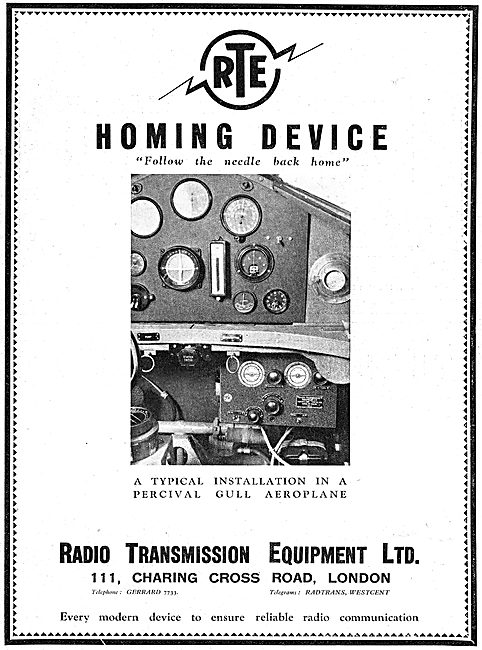 Radio Transmission Equipment - RTE Homing Sets - Gull