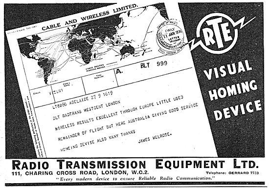 Radio Transmission Equipment - RTE Visual Homing Device