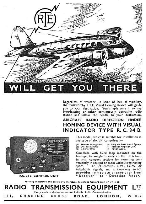 Radio Transmission Equipment - RTE Direction Finder RC34B