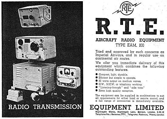 Radio Transmission Equipment - Aircraft Radio Type EAM 100 1939