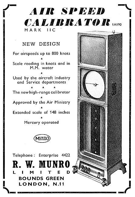 R.W. Munro Airspeed Calibrator