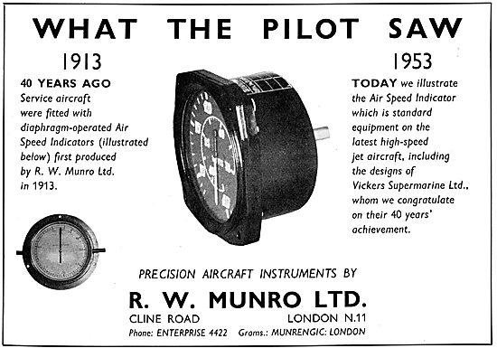 R.W. Munro Air Speed Indicator
