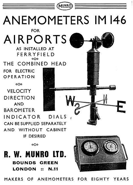 R.W. Munro Anemometers IM146