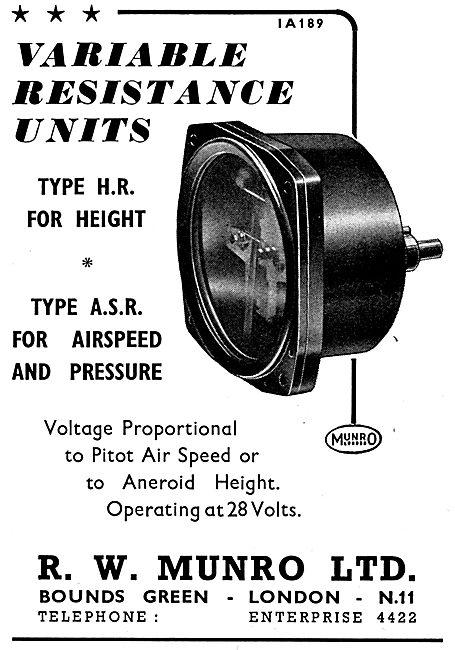 R.W. Munro Variable Resistance Unit