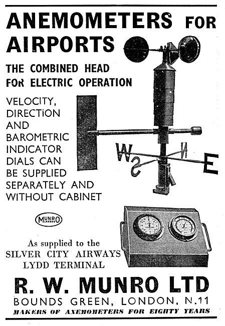 R.W. Munro Airport  Anemometers