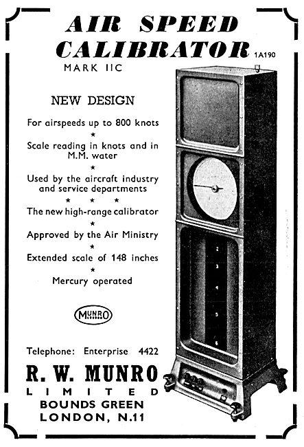 R.W. Munro Instrument Test Equipment