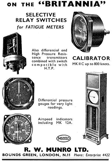 R.W. Munro Instruments, Test Equipment & Fatigue Meters