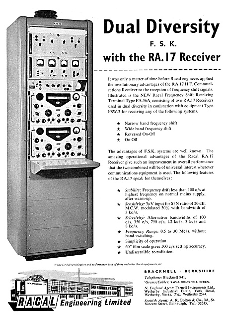 Racal F.S.K. RA.17 H.F. Receiver