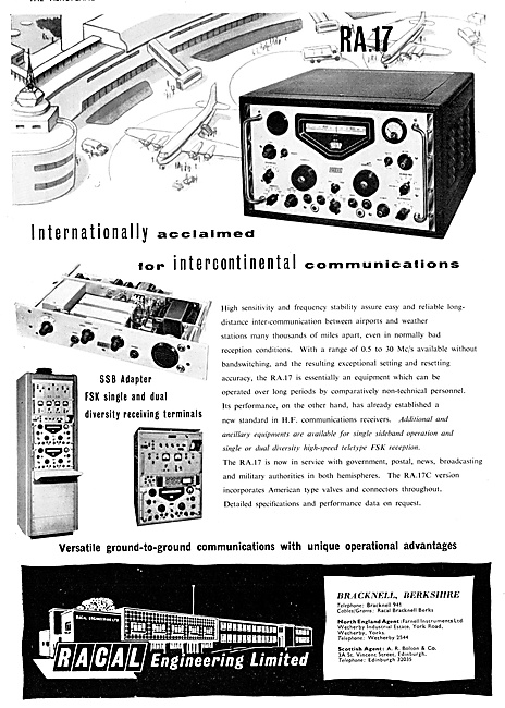 Racal R.A.17 H.F.Comms Receiver 1958
