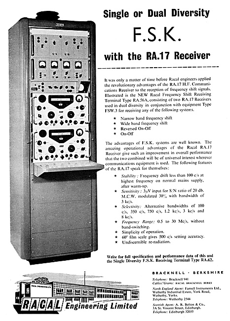 Racal R.A.17 H.F.Comms Receiver