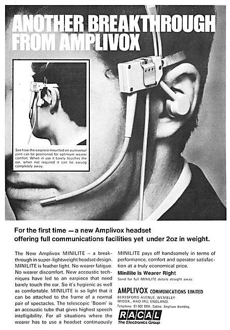 Racal Amplivox Headsets